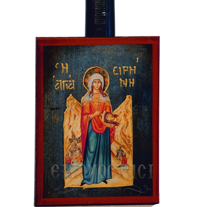 WOODEN ICON SAINT IRENE a2m