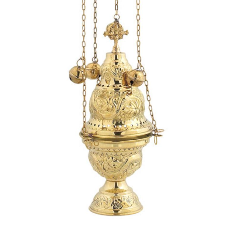 BRONZE GOLD PLATED CHURCH CENSER (9391G)