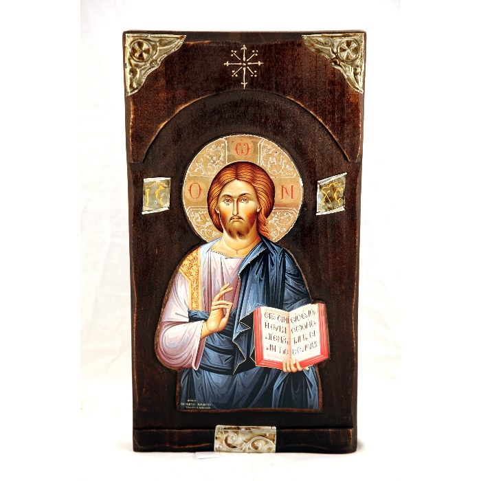 WOODEN ICON WITH JESUS CHRIST N24