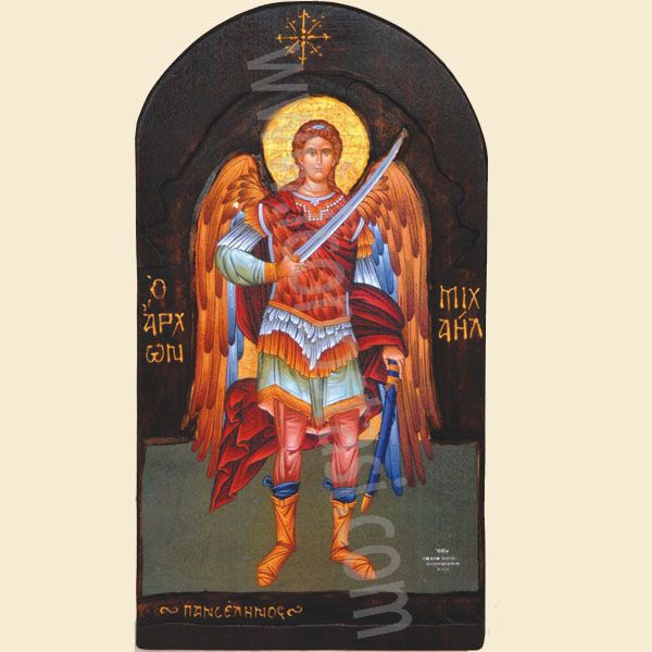 WOODEN ICON WITH ARCHANGEL MICHAEL S4