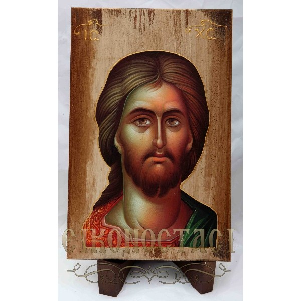 WOODEN ICON WITH JESUS CHRIST a3/2