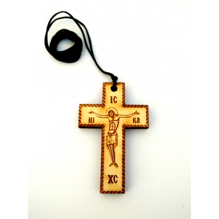 WOODEN CROSS PENDANT no.31