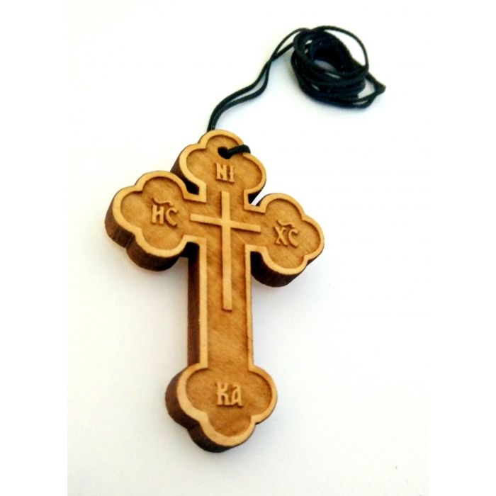 WOODEN CROSS PENDANT no.32