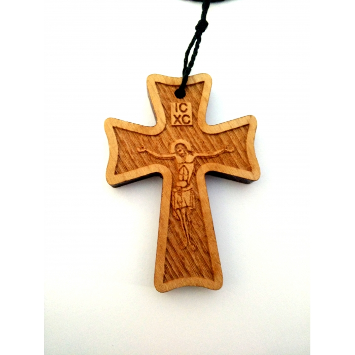 WOODEN CROSS PENDANT no.36