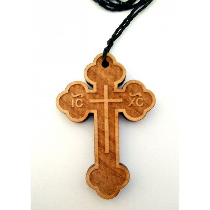 WOODEN CROSS PENDANT no.37