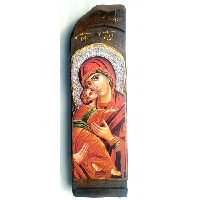 WOODEN ICON WITH VIRGIN MARY N10-C