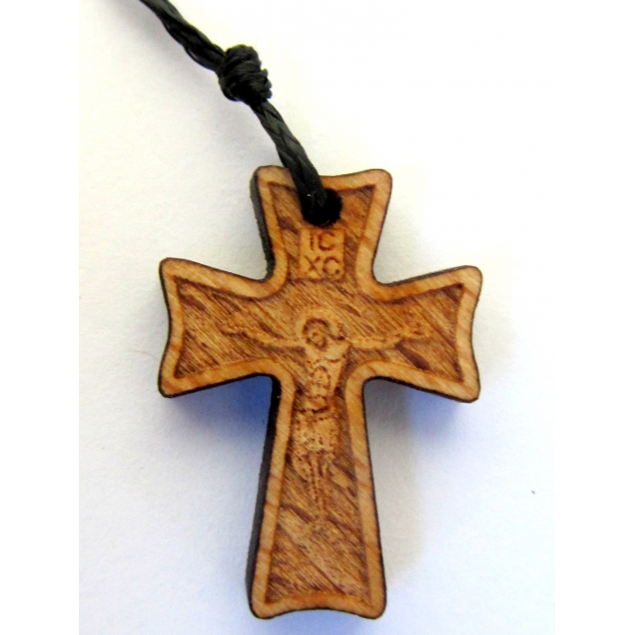 WOODEN CROSS PENDANT no.42