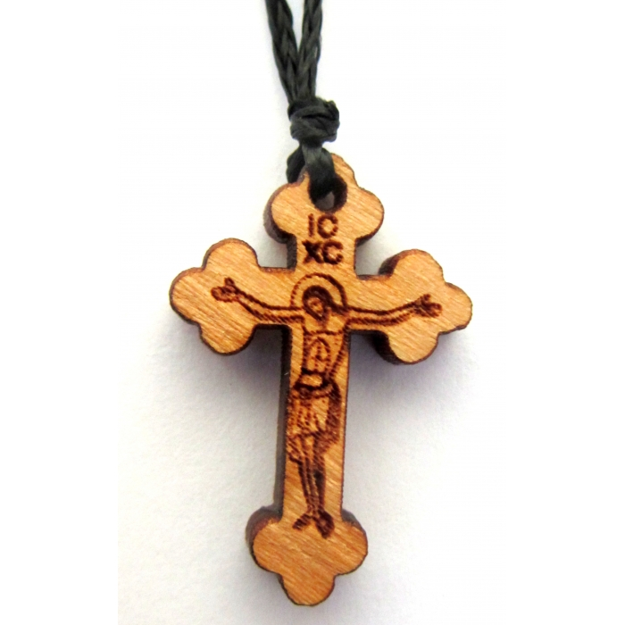 WOODEN CROSS PENDANT no.44
