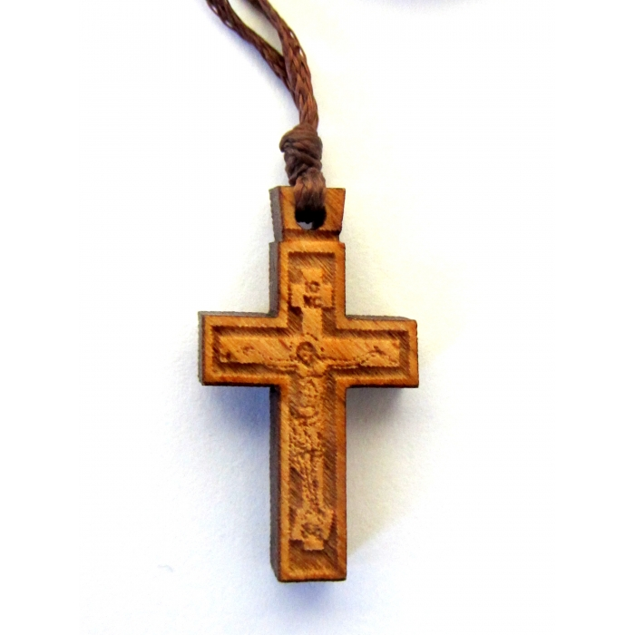 WOODEN CROSS PENDANT no.43