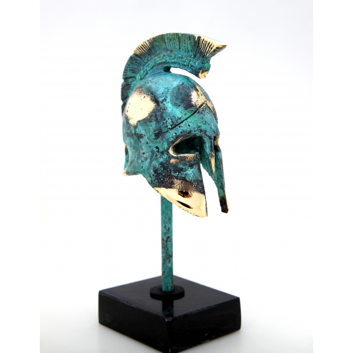 Bronze helmet on a stand 389-1