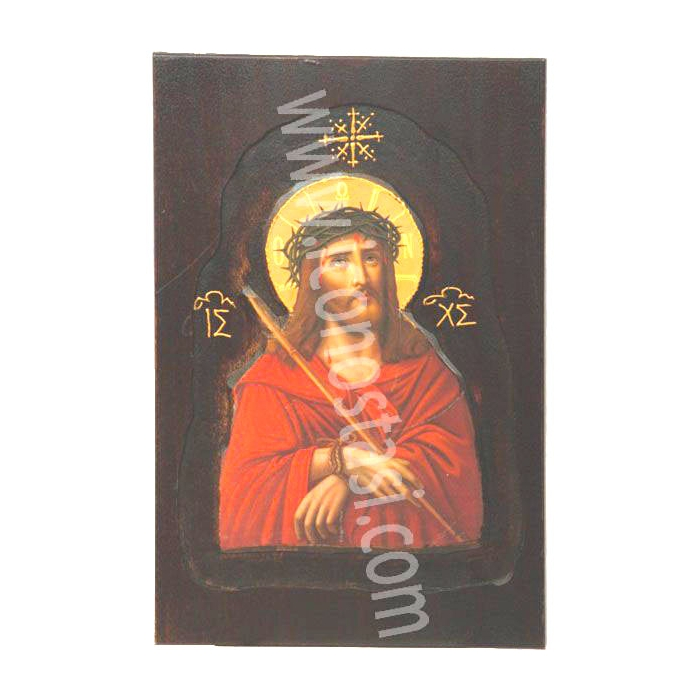 WOODEN ICON WITH JESUS CHRIST  D4