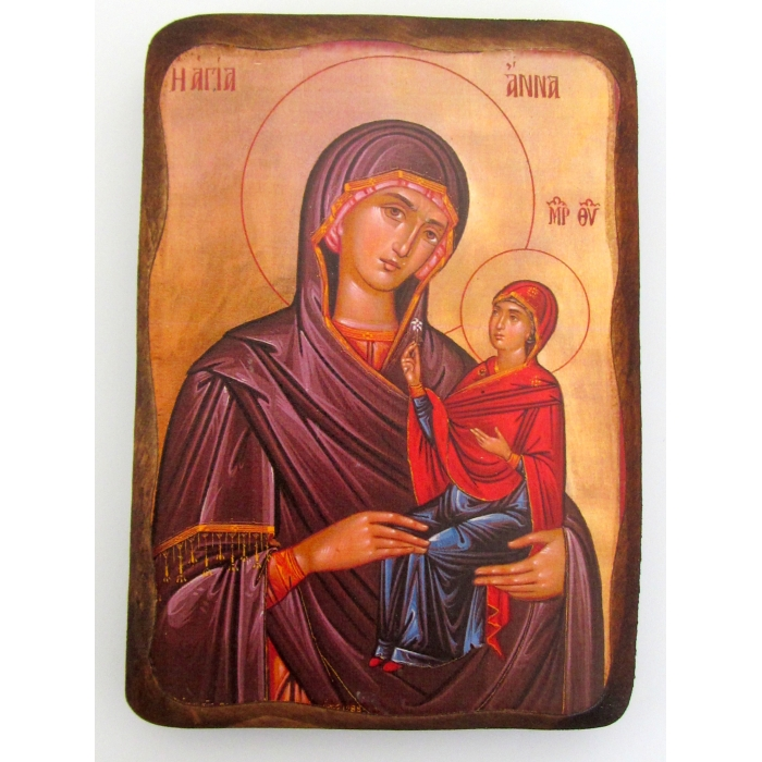 WOODEN ICON 1AP SAINT ANNA