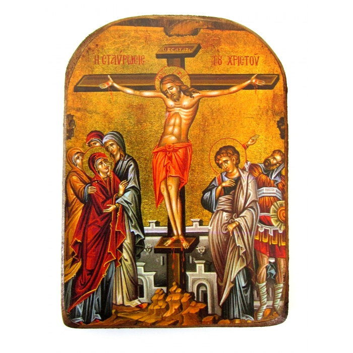 WOODEN ICON  OF THE CRUSIFIXION MP2