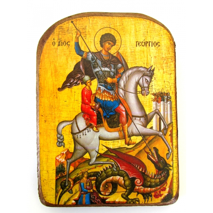 WOODEN ICON  OF SAINT GEORGE MP2