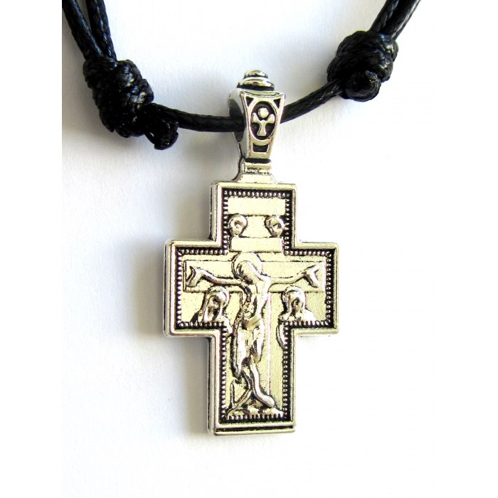 DOUBLE FACE STAINLESS STEEL CROSS PENDANT no.48