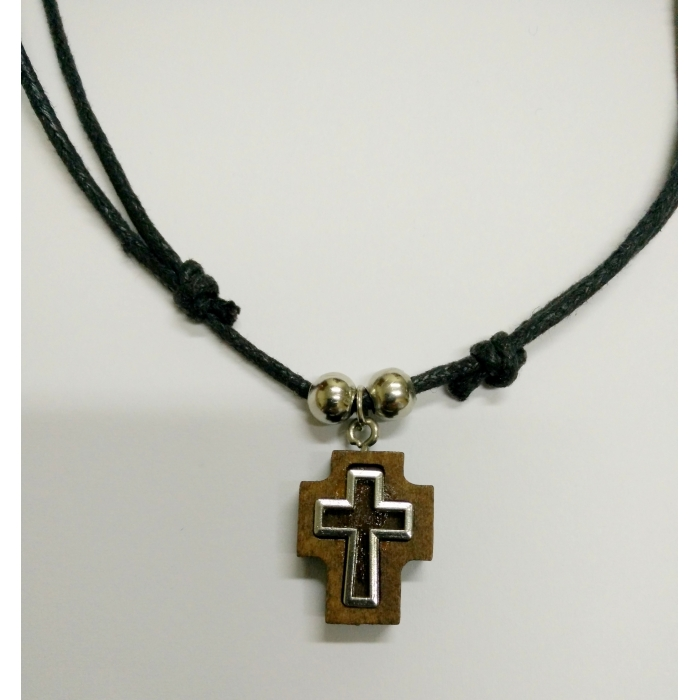 WOODEN CROSS PENDANT no.9