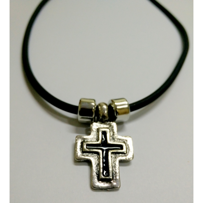 METALLIC CROSS PENDANT no.14