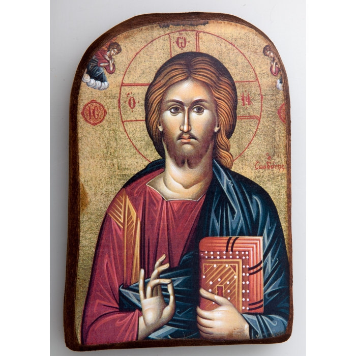 BOMBONNIERE WOODEN ICON MP2_2 - JESUS CHRIST