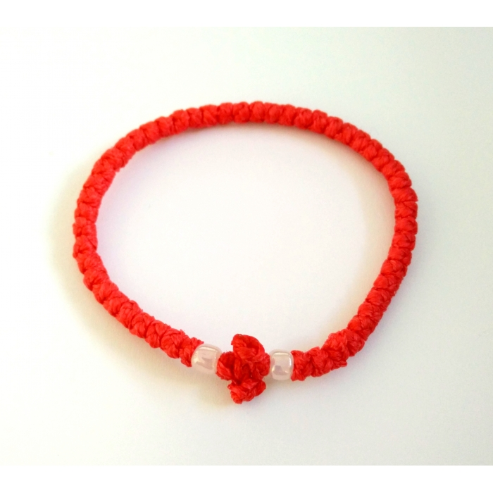PRAYER ROPE THIN RED