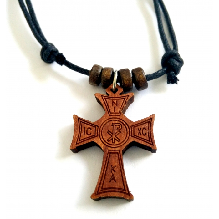 WOODEN CROSS PENDANT no.18