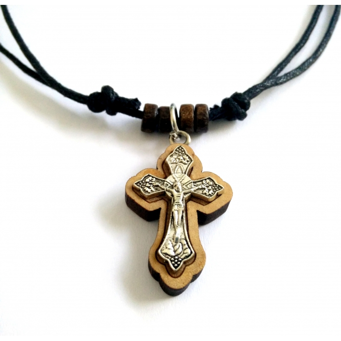 WOODEN CROSS PENDANT no.20