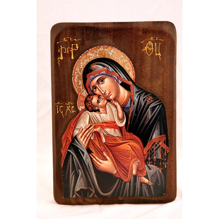 WOODEN ICON WITH VIRGIN MARY R3