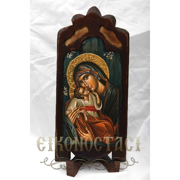 WOODEN ICON WITH VIRGIN MARY S10